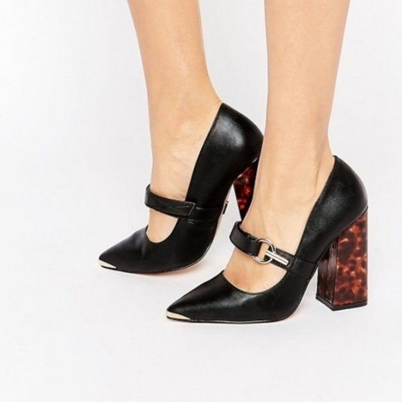 ASOS Shoes - Lost ink Asos heel chunky